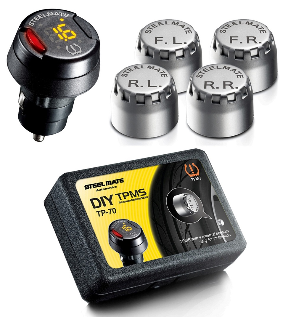 Steelmate DIY TP-70 – система мониторинга давления и температуры в шинах