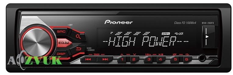 Pioneer представляет два принципиально новых головных устройства 1DIN с удвоенной выходной мощностью 4х100 Вт.