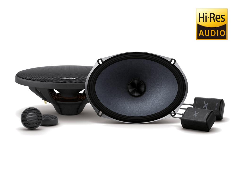Alpine X-S69C исключительная чистота звука и фантастическое звучание