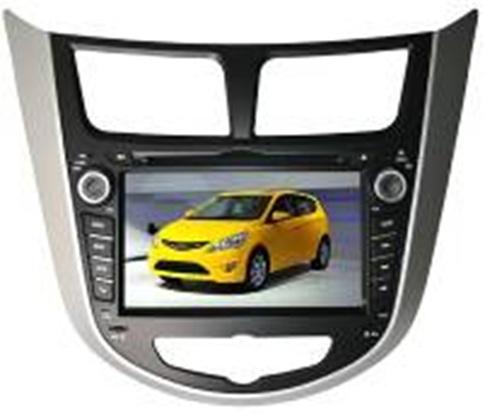 "Globex.  Автомобили: Hyundai Accent Размер экрана: 7 "" Разрешение экрана: 800x480 Интерфейсы: USB, SD, iPod."