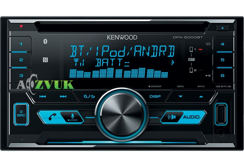 Автомагнитола 2-DIN Kenwood DPX-5000BT