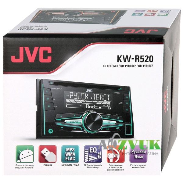 Автомагнитола 2-DIN JVC KW-R520QN