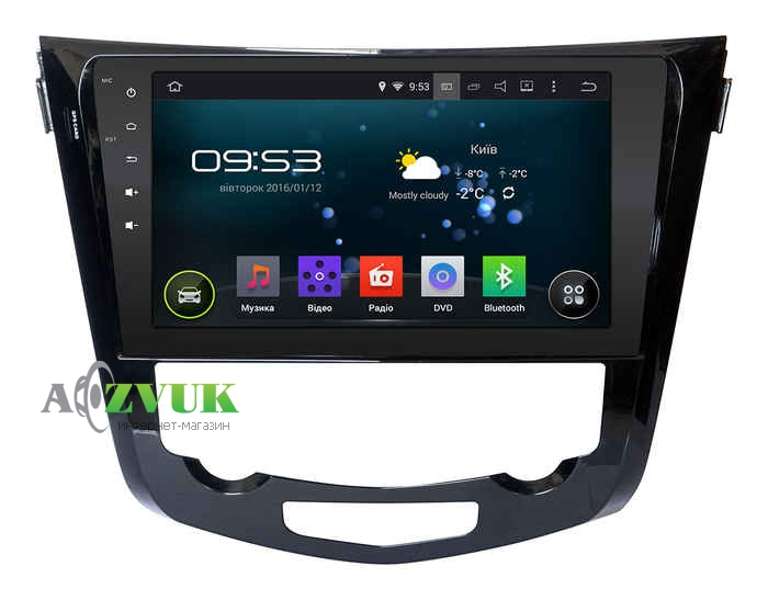 Штатная Магнитола Incar AHR-6281 для Nissan X-Trail, Qashqai 2014+ Climat Android 4.4.4