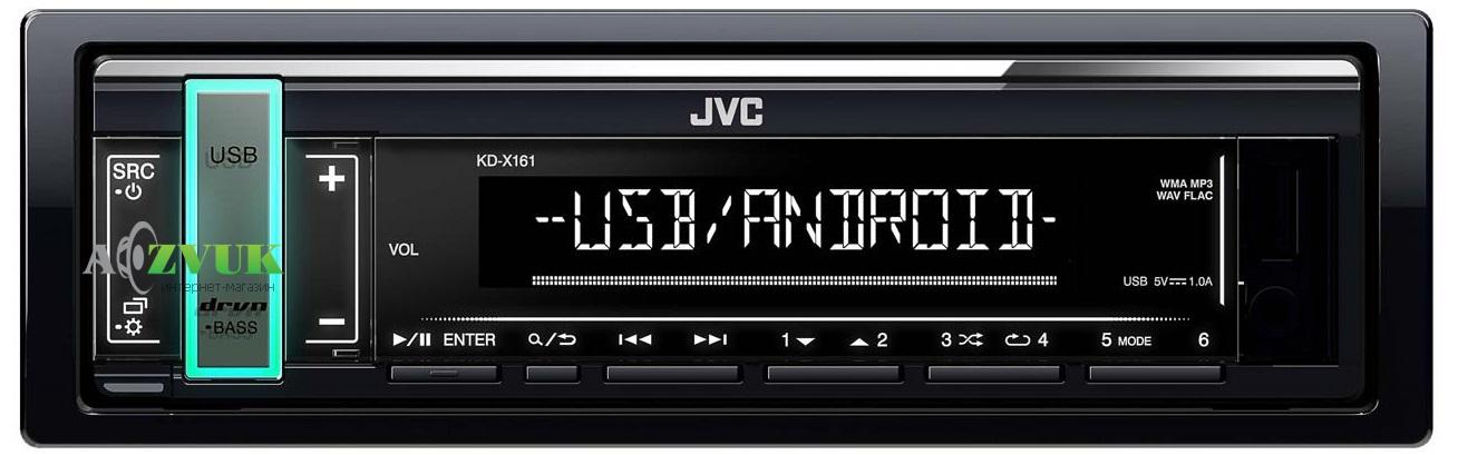 Автомагнитола 1-DIN JVC KD-X161