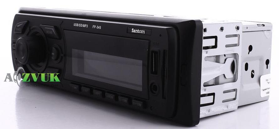 Автомагнитола 1-DIN Fantom FP-345 Black/White