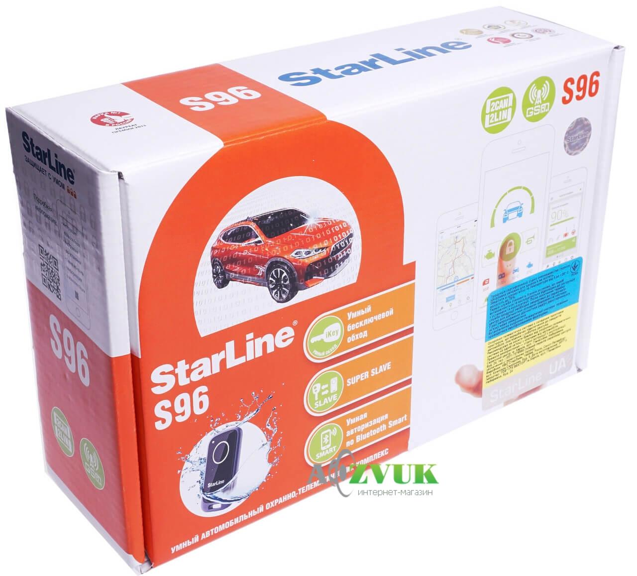Автосигнализация StarLine S96 BT 2CAN+2LIN GSM