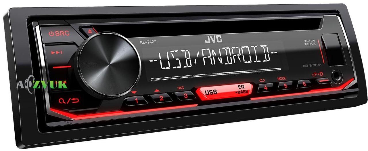 Автомагнитола 1-DIN JVC KD-T402