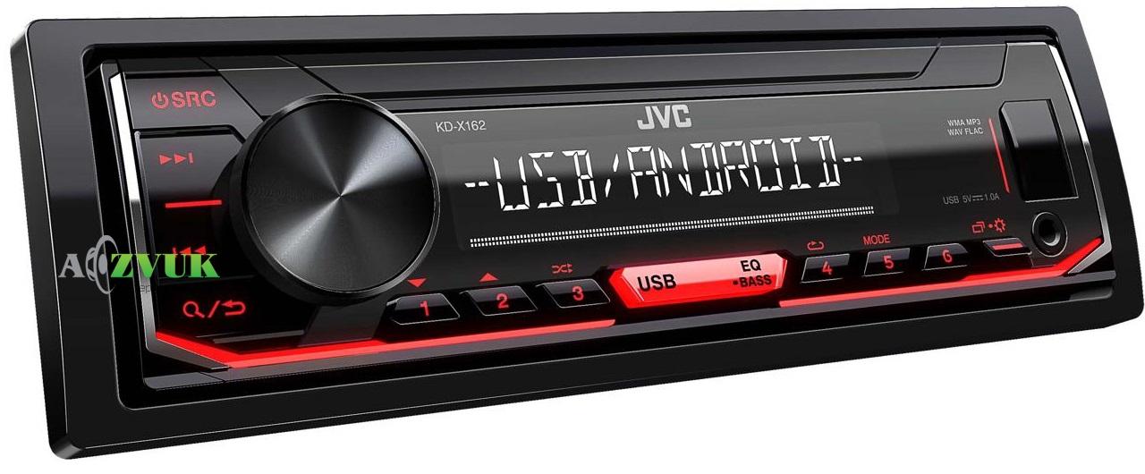 Автомагнитола 1-DIN JVC KD-X162