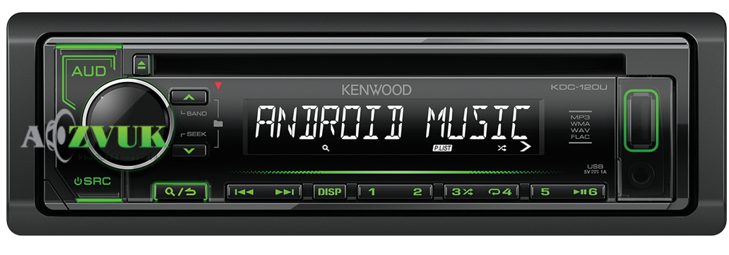 Автомагнитола 1-DIN Kenwood KDC-120UG