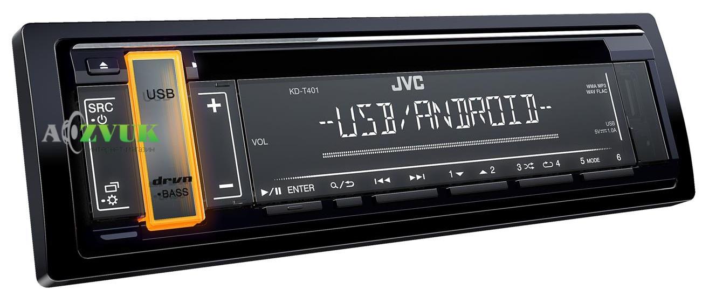 Автомагнитола 1-DIN JVC KD-T401