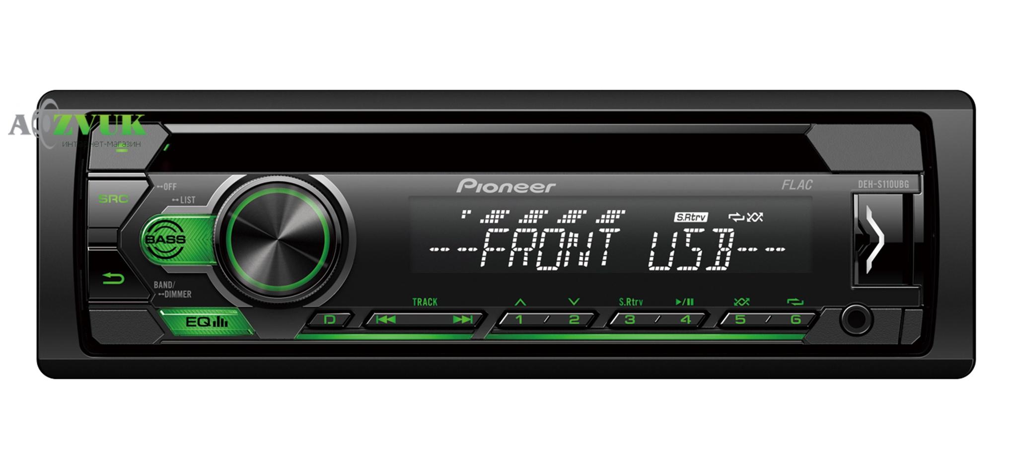 Автомагнитола 1-DIN Pioneer DEH-S110UBG