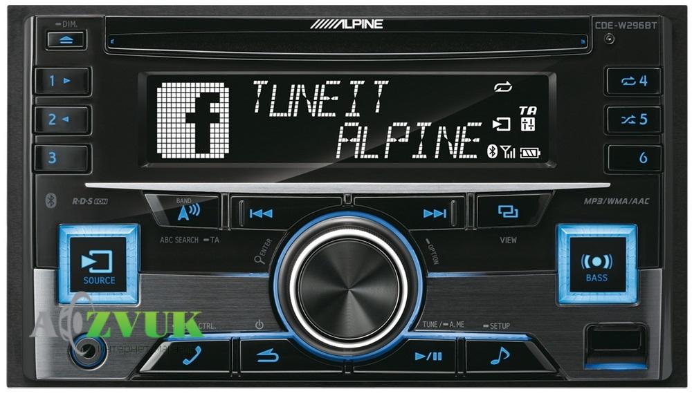 Автомагнитола 2-DIN Alpine CDE-W296BT