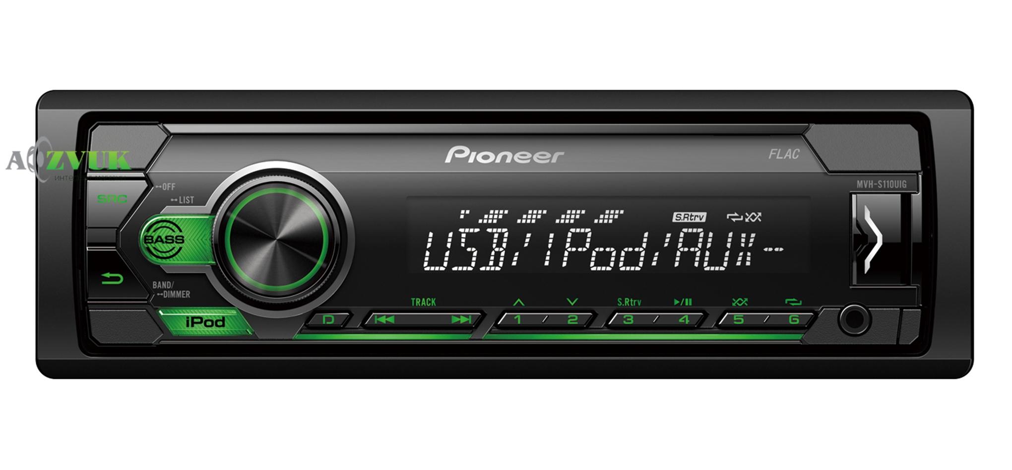 Автомагнитола 1-DIN Pioneer MVH-S110UIG