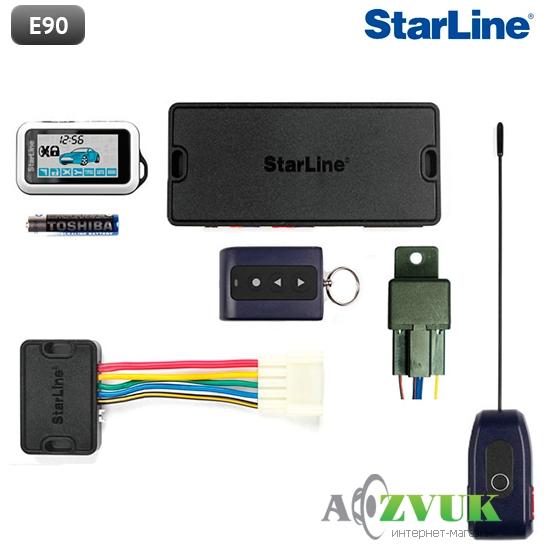 Установка сигнализации starline e90