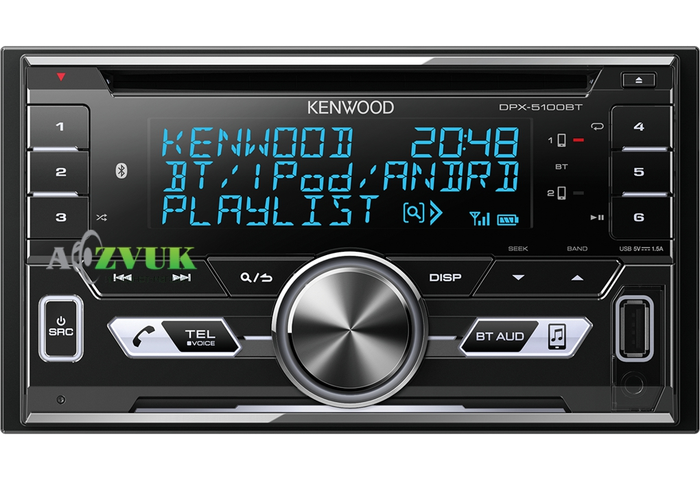Автомагнитола 2-DIN Kenwood DPX-5100BT