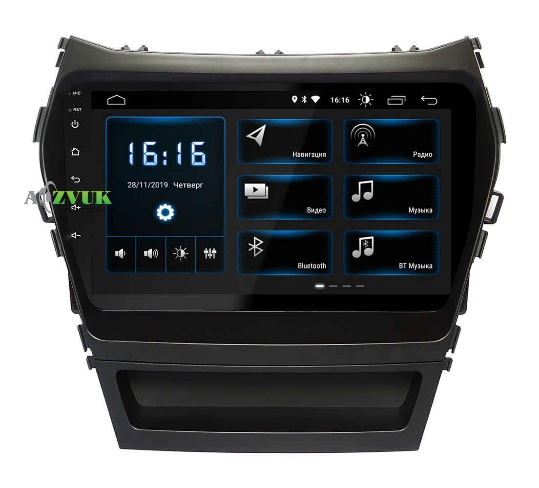 Штатная Магнитола Incar XTA-2409 Hyundai Santa Fe (IX45) 2013+
