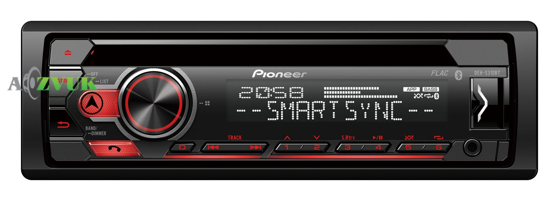 Автомагнитола 1-DIN Pioneer DEH-S310BT