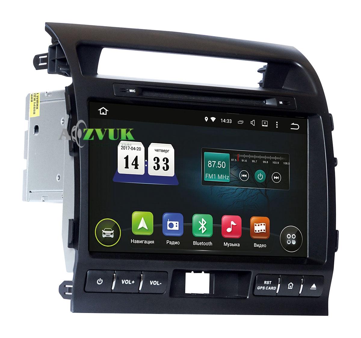 Штатная Магнитола Incar AHR-2280E для Toyota LC 200 2012+ Android 5.1 с адаптером усилителя, к-кт