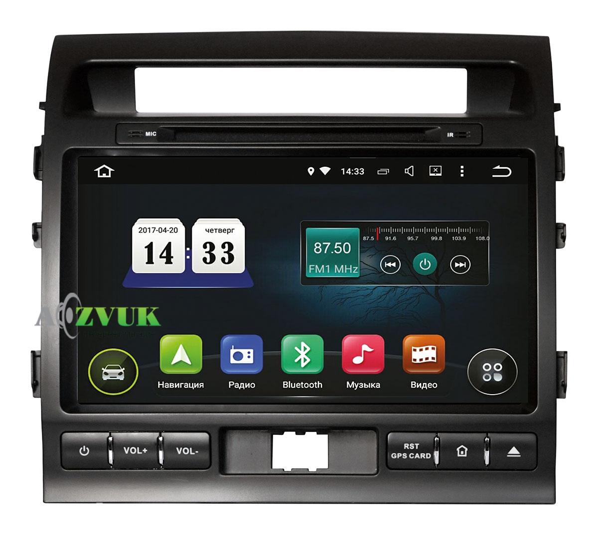 Штатная Магнитола Incar AHR-2280 для Toyota LC 200 2012+ Android 5.1