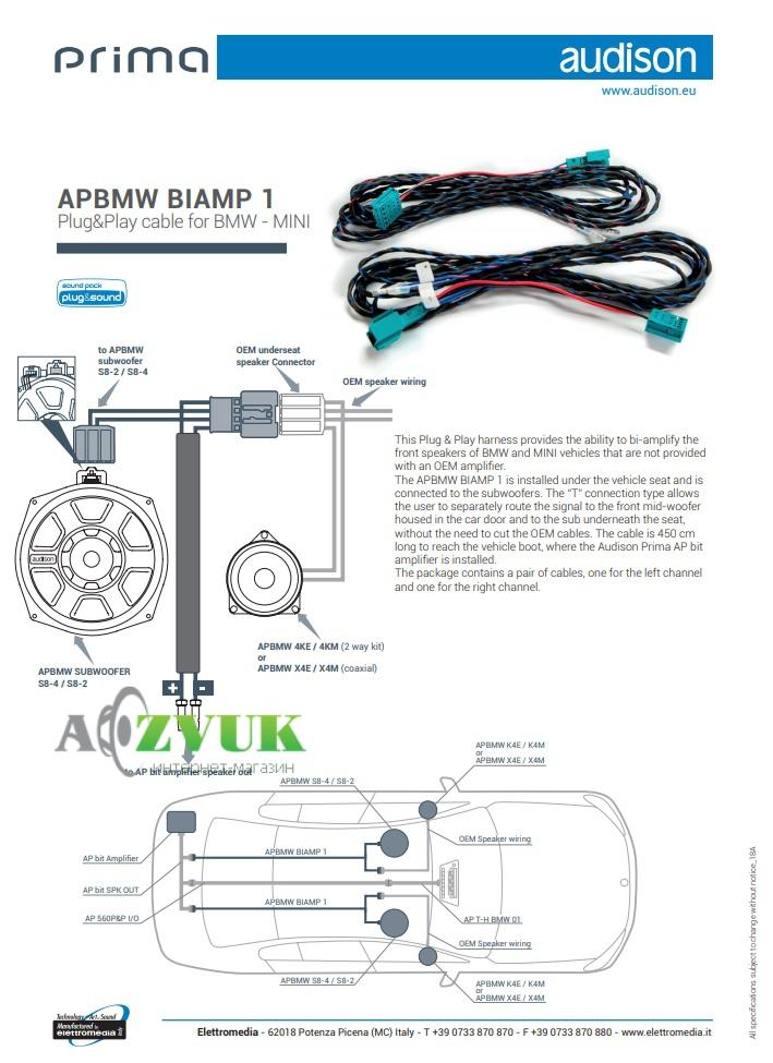 Аксессуары к усилителям Audison APBMW BIAMP1